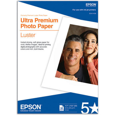 Epson Ultra Premium Photo Paper Luster A3 11.7x16.5 (50), papers sheet paper, Epson - Pictureline