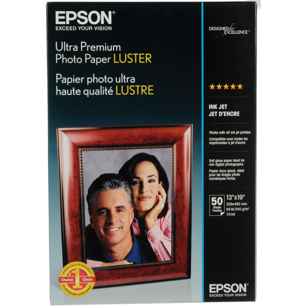 Epson Ultra Premium Photo Paper Luster 13x19 (50), papers sheet paper, Epson - Pictureline