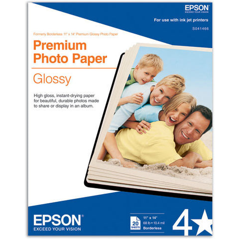 Epson Premium Photo Glossy Paper 11x14 (20), papers sheet paper, Epson - Pictureline