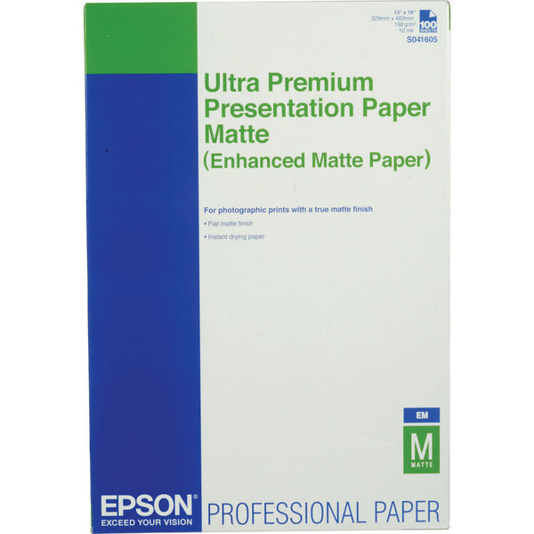 Epson Enhanced Matte 13x19 Paper (100), papers sheet paper, Epson - Pictureline