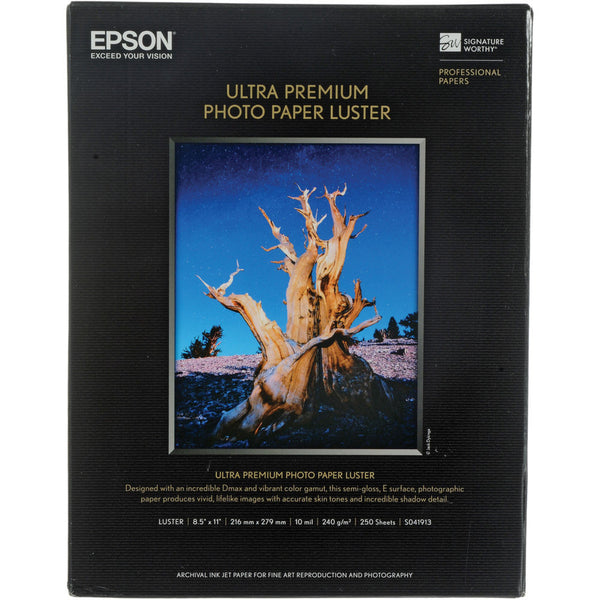 Epson Ultra Premium Photo Paper Luster 8.5x11 (250), papers sheet paper, Epson - Pictureline