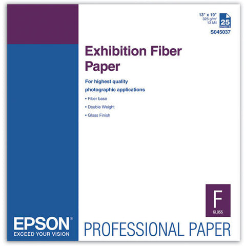 Epson Exhibition Fiber Paper 13x19 (25), papers sheet paper, Epson - Pictureline