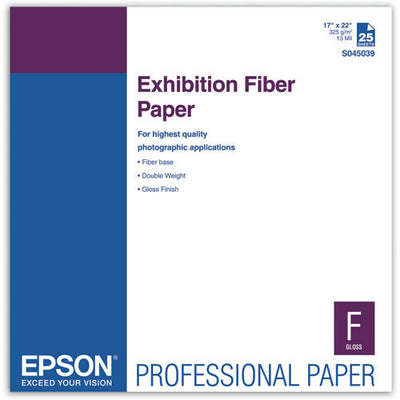 "Epson 17""x22"" Exhibition Fiber Paper (25), papers sheet paper, Epson - Pictureline"