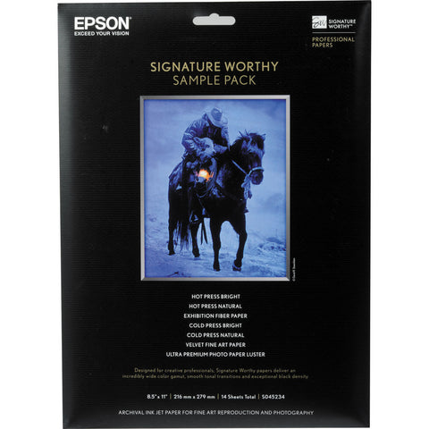 Epson Signature Worthy Sample Pack Paper 8.5x11, papers sheet paper, Epson - Pictureline