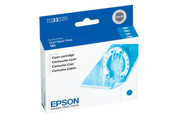 Epson T033220 960 Cyan Ink, printers ink small format, Epson - Pictureline
