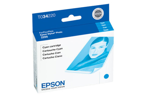 Epson T034220 2200 Photo Cyan Ink, printers ink small format, Epson - Pictureline