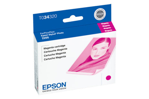 Epson T034320 2200 Photo Magenta Ink, printers ink small format, Epson - Pictureline