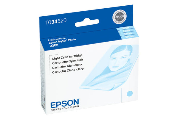 Epson T034520 2200 Light Cyan Ink, printers ink small format, Epson - Pictureline