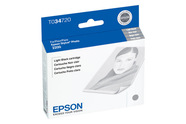 Epson T034720 2200 Light Black Ink, printers ink small format, Epson - Pictureline