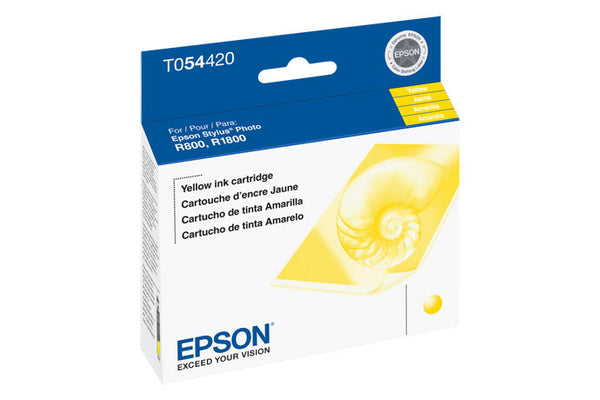 Epson T054420 R800/R1800 Yellow Ink, printers ink small format, Epson - Pictureline