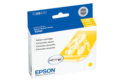 Epson T059420 R2400 Ink Yellow, printers ink small format, Epson - Pictureline