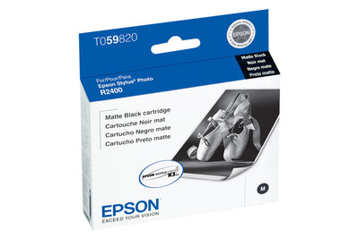 Epson T059820 R2400 Ink Matte Black, printers ink small format, Epson - Pictureline