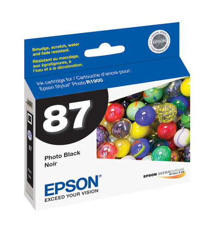 Epson T087120 R1900 Photo Black Ink, printers ink small format, Epson - Pictureline