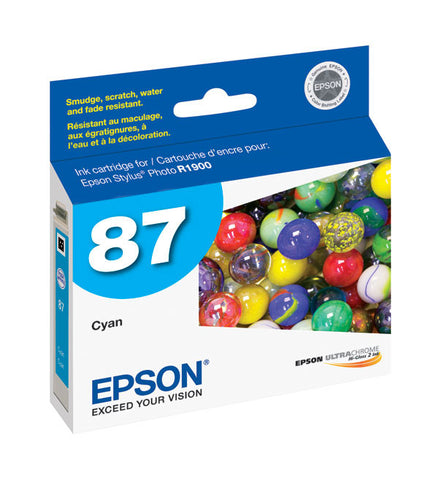 Epson T087220 R1900 Cyan Ink, printers ink small format, Epson - Pictureline