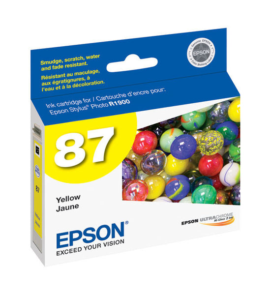 Epson T087420 R1900 Yellow Ink, printers ink small format, Epson - Pictureline
