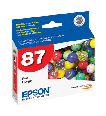 Epson T087720 R1900 Red Ink, printers ink small format, Epson - Pictureline