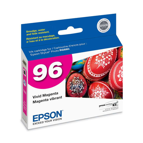 Epson T096320 R2880 Vivid Magenta Ink Cartridge (96), printers ink small format, Epson - Pictureline