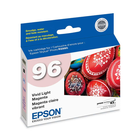 Epson T096620 R2880 Vivid Light Magenta Ink Cartridge (96), printers ink small format, Epson - Pictureline
