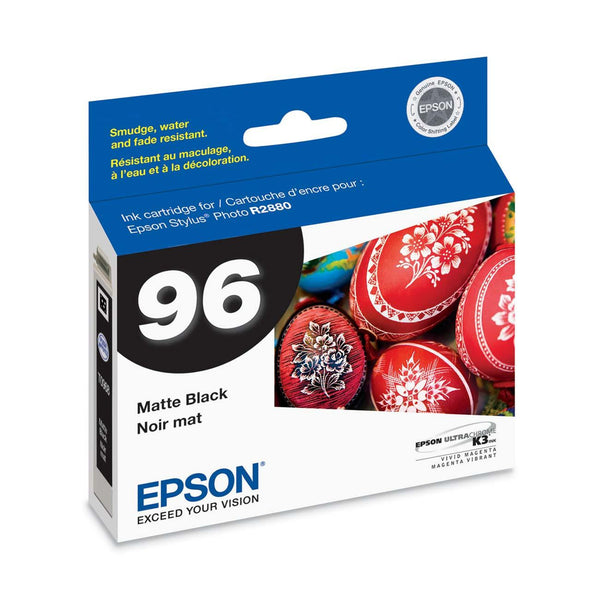 Epson T096820 R2880 Matte Black Ink Cartridge (96), printers ink small format, Epson - Pictureline
