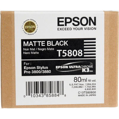Epson T580800 3800/3880 Ink Ultrachrome Matte Black, papers ink large format, Epson - Pictureline