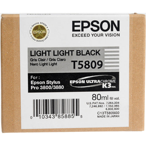 Epson T580900 3800/3880 Ink Ultrachrome Light Light Black Ink, papers ink large format, Epson - Pictureline