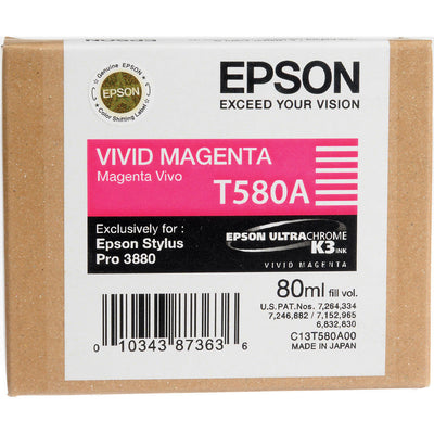 Epson T580A00 3880 Ink Ultrachrome Vivid Magenta Ink, papers ink large format, Epson - Pictureline
