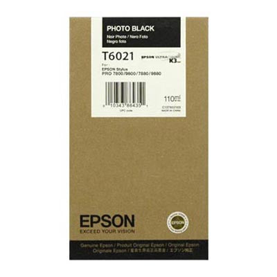 Epson T602100 7800/7880/9800/9880 Photo Black Ink 110ml, papers ink large format, Epson - Pictureline