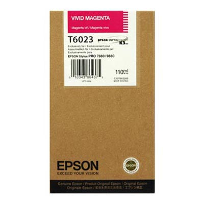 Epson T602300 7880/9880 Ink Vivid Magenta 110ml, papers ink large format, Epson - Pictureline