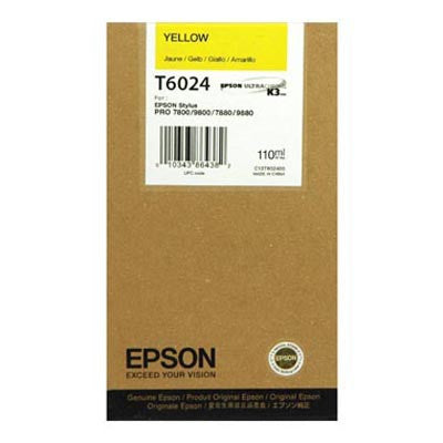 Epson T602400 7800/7880/9800/9880 Yellow Ink 110ml, papers ink large format, Epson - Pictureline