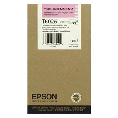 Epson T602600 7880/9880 Ink Vivid Light Magenta 110ml, papers ink large format, Epson - Pictureline