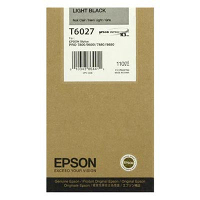 Epson T602700 7800/7880/9800/9880 Light Black Ink 110ml, papers ink large format, Epson - Pictureline