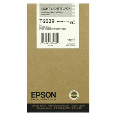 Epson T602900 7800/7880/9800/9880 Light Light Black Ink 110ml, papers ink large format, Epson - Pictureline