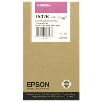 Epson T602B00 7800/9800 Magenta Ink 110ml, papers ink large format, Epson - Pictureline