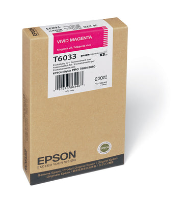 Epson T603300 7880/9880 Ink Vivid Magenta 220ml, papers ink large format, Epson - Pictureline