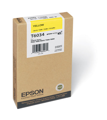 Epson T603400 7800/7880/9800/9880 Yellow Ink 220ml, papers ink large format, Epson - Pictureline
