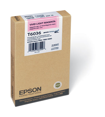 Epson T603600 7880/9880 Ink Vivid Light Magenta 220ml, papers ink large format, Epson - Pictureline