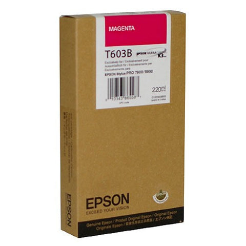 Epson T603B00 7800/9800 Magenta Ink 220ml, papers ink large format, Epson - Pictureline