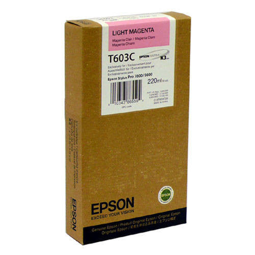 Epson T603C00 7800/9800 Light Magenta Ink 220ml, papers ink large format, Epson - Pictureline
