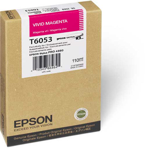 Epson T605300 4880 Ink Ultrachrome Vivid Magenta 110ml, papers ink large format, Epson - Pictureline