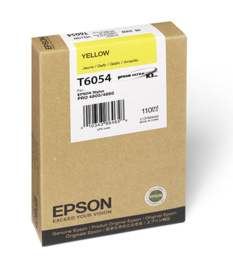 Epson T605400 4880/4800 Ultrachrome HDR Ink Yellow 110ml, papers ink large format, Epson - Pictureline