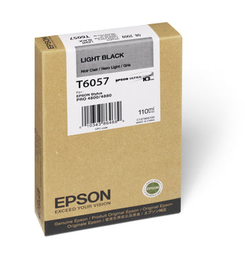Epson T605700 4880/4800 Ultrachrome HDR Ink Light Black 110ml, papers ink large format, Epson - Pictureline