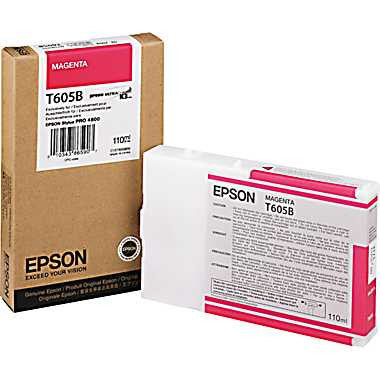 Epson T605B00 4800 Ultrachrome HDR Ink Magenta 110ml, papers ink large format, Epson - Pictureline