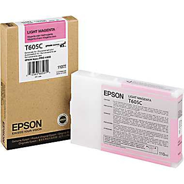 Epson T605C00 4800 Ultrachrome HDR Ink Light Magenta 110ml, papers ink large format, Epson - Pictureline