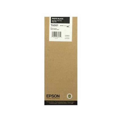 Epson T606100 4880/4800 Ultrachrome HDR Ink Photo Black 220ml, papers ink large format, Epson - Pictureline