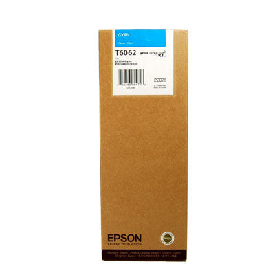 Epson T606200 4880/4800 Ultrachrome HDR Ink Cyan 220ml, papers ink large format, Epson - Pictureline