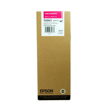 Epson T606300 4880 Ultrachrome HDR Ink Vivid Magenta 220ml, papers ink large format, Epson - Pictureline