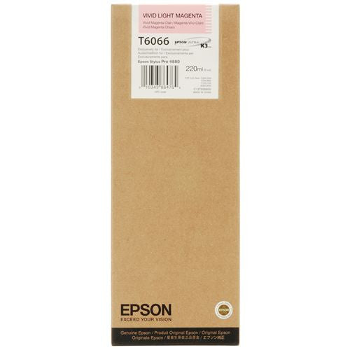 Epson T606600 4880 Ultrachrome HDR Ink Vivid Light Magenta 220ml, papers ink large format, Epson - Pictureline