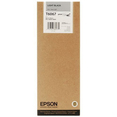 Epson T606700 4880/4800 Ultrachrome HDR Ink Light Black 220ml, papers ink large format, Epson - Pictureline