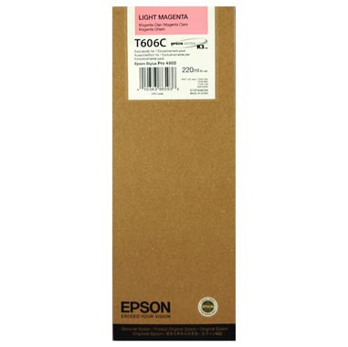 Epson T606C00 4800 Ultrachrome HDR Ink Light Magenta 220ml, papers ink large format, Epson - Pictureline