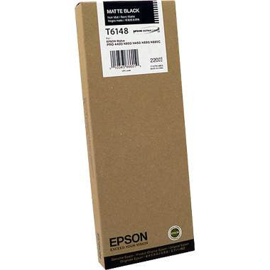 Epson T614800 4880/4800 Ink Matte Black 220ml, papers ink large format, Epson - Pictureline